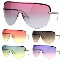 Oceanic Color Gradient Lens Oversize Shield Diva Racer Sunglasses - £9.77 GBP
