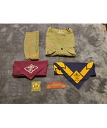VINTAGE BOY SCOUTS OF AMERICA UNIFORM SHIRT/HAT/PATCHES/BANDANAS ~ 1940'S - $150.00