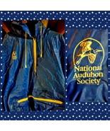 National AUDOBON SOCIETY Zip Jacket Raincoat Blue Bird Watching - $45.82