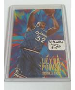 1995-96 Ultra Power #9 Shaquille O'Neal - Orlando Magic - $1.42