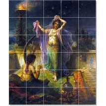 Hans Zatzka Mythology Painting Tile Murals BZ23265. Kitchen Backsplash B... - $300.00+