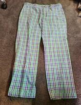 Nike Golf Sport NWT Men's Size 36x30 Purple/Blue/Green Plaid Check Dri-F... - $39.50