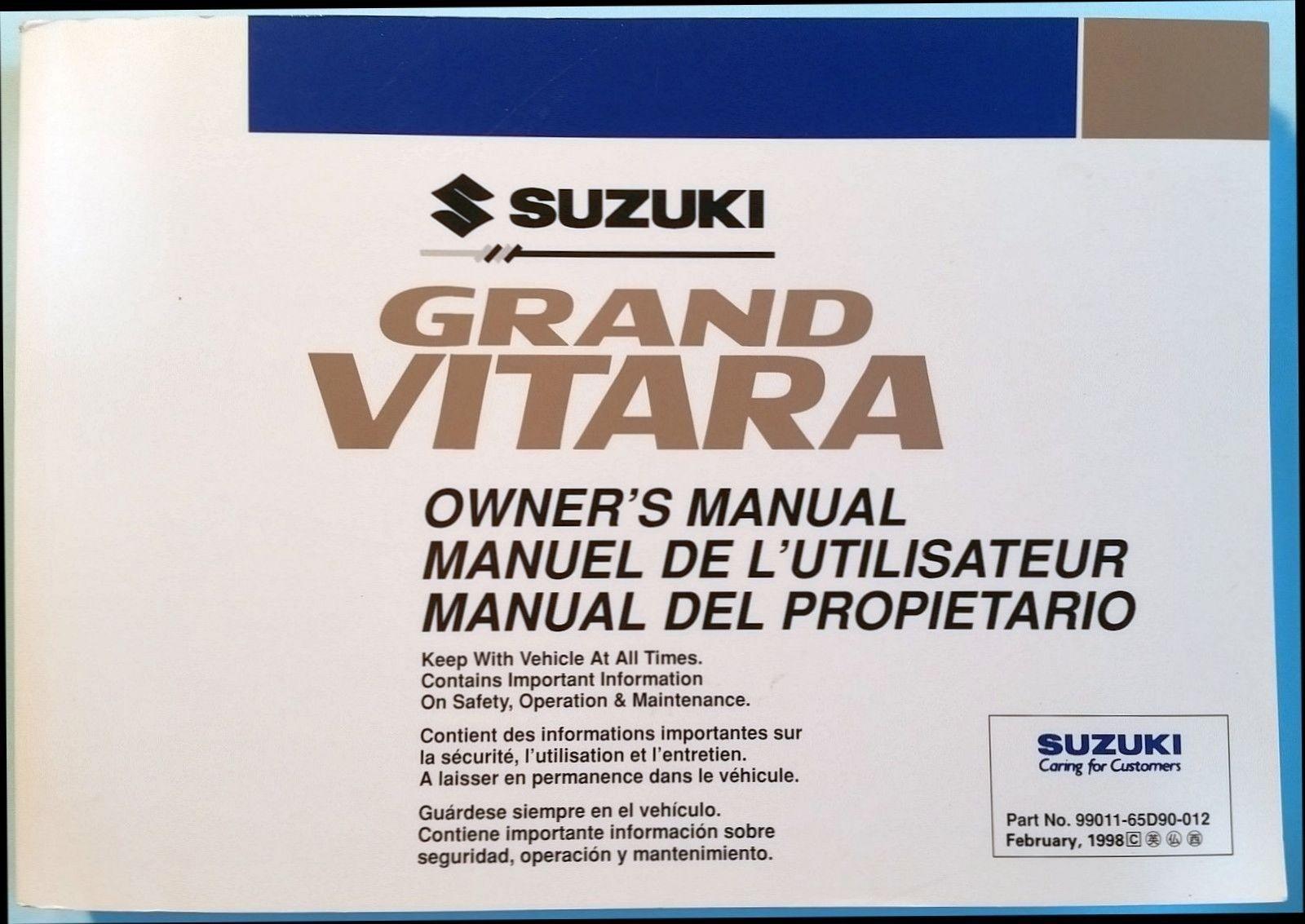 1998 1999 Suzuki Vitara Esteem Grand Vitara Wiring Diagrams Schematics Set Car Manuals Literature Vehicle Parts Accessories