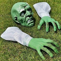Moyeenee Halloween Decorations Zombie Face and Arms, Scary Halloween Lawn - $22.97