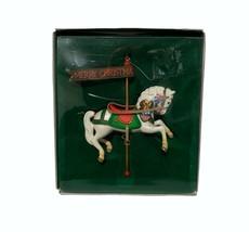 Enesco Carousel Horse Christmas Ornament E-0278 White Horse - $24.72
