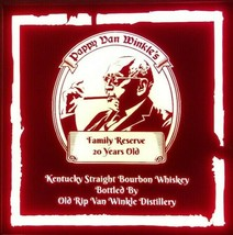 Pappy Van Winkle Whiskey LED Sign Personalized, Home bar pub Sign, Light... - $60.00