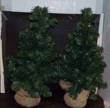 "TWO-EXTRA Large Village Pine Trees - 22"" Tall Goes Well With Any Village - $14.70"