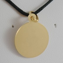 SOLID 18K YELLOW GOLD HOLY ST SAINT SANTA RITA ROUND MEDAL MADE IN ITALY  image 2