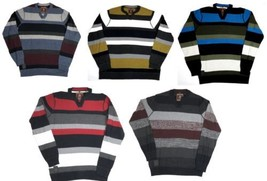 Point Zero Black Label Men's Striped Sweater Long Sleeve Semi-Fit 5713467/68