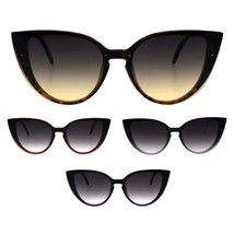 Womens Gothic Mod Exposed Shield Lens Cat Eye Retro Sunglasses - $12.95