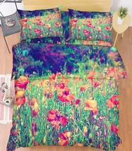 3D Weeds Flowers Bed Pillowcases Quilt Duvet Cover Set Single Queen King Size AU - $64.32+