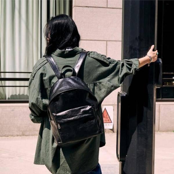 Sale, Full Grain Leather Women Backpack, Handmade Travel Backpack, School Backpa image 4