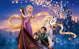 Tangled Rapunzel Princess Edible Cake Topper Frosting 1/4 Sheet Birthday... - $6.45