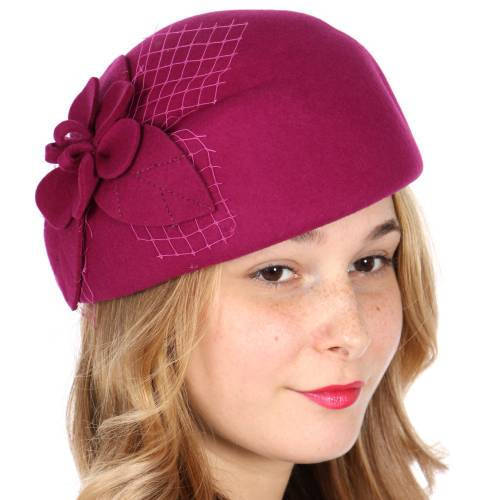 f20079630 Formal Wool flower leaf netted fascinator and 50 similar items