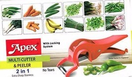 VEGETABLE CUTTER & PEELER LOCKING SYSTEM, CHILLI,RADISH,CARROT,LADY FINGER - $9.90