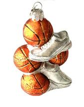 KSA Kurt S Adler Glass Converse Basketball All Star Sneakers Ornament Ch... - $11.87