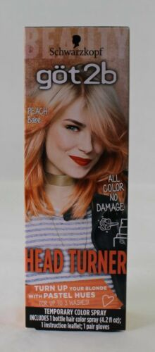 Primary image for Schwarzkopf got 2b Heat Turner Peach Babe (Orange) Temporary Color Spray 4.2floz