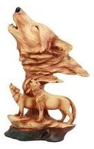 "Ebros Wildlife Scene Howling Wolf Head Bust Figurine 12"" Tall Wolf Pack ... - $51.25"