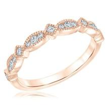 0.50 CT Diamond Milgrain Half-Eternity Wedding Anniversary Band 925 Silver - $66.49