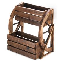 Wagon Wheel Double-tier Planter 10013842 - $107.08 CAD