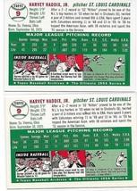 1954 Topps Archives St. Louis Cardinals Harvey Haddix #9 Gold & Regular 2Cards image 2
