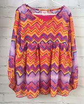 Justice Outfit Set - Boho Flowing Loose Poncho Top + Jean Skirt Skort Sz 10 image 7