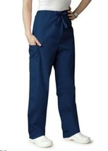 Scrub Pants Navy Blue Adar 504 Drawstring Waist S Uniform Bottom Unisex New - $19.37