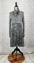 Dana Buchman women's sz xl sweater dress long sleeve geometric print b7 - $33.66