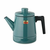 *Fuji enamel coffee pot solid 1.6L smoke Blue SD-1.6CP ? SB - $56.27