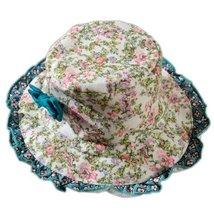 Baby Girl Sun Protection Hat Infant Floppy Hat Toddler Summer Cap Floral 52CM