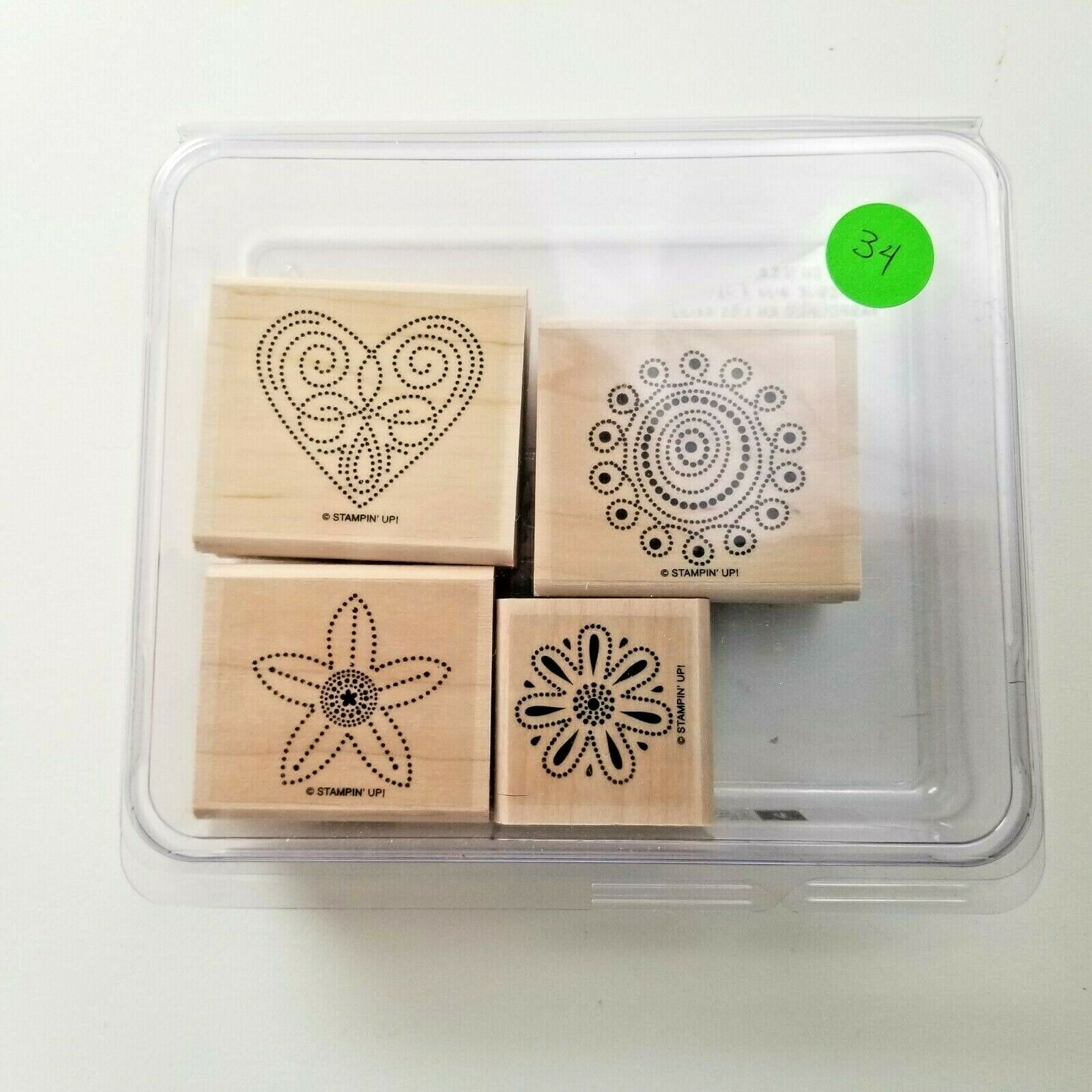 Primary image for Stampin Up Polka Dot Punches Stamp Set EUC 4 Stamps