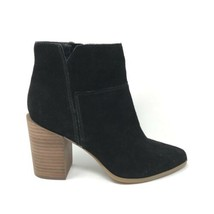 Nine West Women's Size 9 Kirby Ankle Bootie Black Suede Block Heel Point... - $37.39