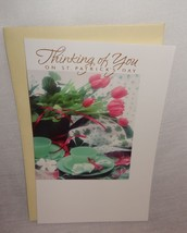 New Thinking of you on St. Patrick's Day Greeting Card Unused Tulips - $4.64