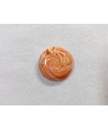 Bead Orange Swirly Lentil 24mm Handmade Polymer Clay Bead Weaving Embroi... - $7.00
