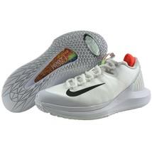 Nike NikeCourt Air Zoom Zero HC Tennis Shoes White Black Red Non Marking... - $149.95