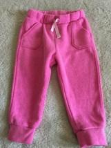 Cat & Jack Girls Pink Jogger Sweatpants Pockets 18 Months - $5.00