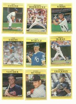 9 FLEER 1991  Baseball   ROOKIE CARDS #3   EXMT OR BETTER   - $6.91