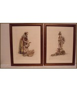 Set of Hand Colored Etchings by Paul Geissler  ... - $84.10