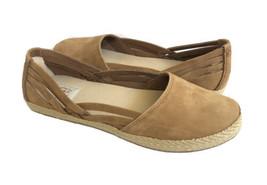 Ugg Cicily Chestnut Espadrille Slip On Nubuck Flat Shoe Sz Us 9 / Eu 40 / Uk 7.5 - $60.78