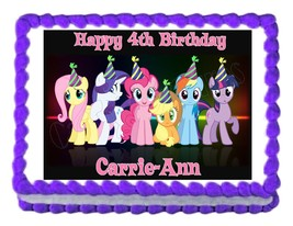 MY LITTLE PONY edible cake image party cake topper decoration cake image... - $7.80
