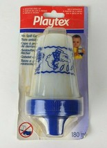 Vintage NIP Playtex 6oz Spill Proof Cup Sippy Spout Blue Animals 1998 - $31.68