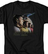 Star Trek T-shirt Retro 60's original crew Kirk & Spock graphic tee CBS108 image 3