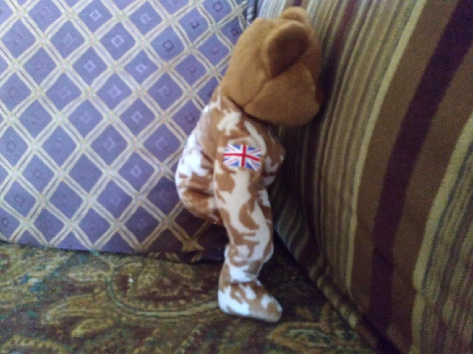 Ty Beanie Baby Hero Military UK Teddy Bear Stuffed Animal Plush image 2