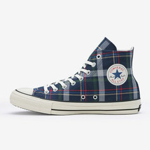 CONVERSE ALL STAR 100 TARTANCHECK HI Navy Chuck Taylor Japan Exclusive - $170.00