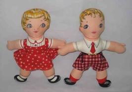 """WONDERFUL Vintage Pair 11"""" Cloth GIRL BOY Dolls - $67.54"""