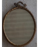 Nice Antique Oval Mirror - Wooden Frame - Molded Detail - NEEDS TLC AND ... - $49.49