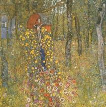 "Gustav Klimt ""Farm Garden with Crucifix, 1912"" NEW HD print on canvas 24... - $24.74"
