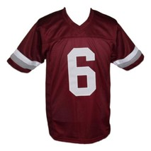 AC Slater #6 Bayside Saved By The Bell New Men Football Jersey Maroon Any Size image 4