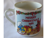 Merry Christmas Smurf 1983 Vintage Mug Collectible 2nd of Annual Limited Edition