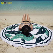 150cm Round Towel Beach Yoga Mat Throw Blanket Tapestry Hippie Picnic Ta... - $19.62